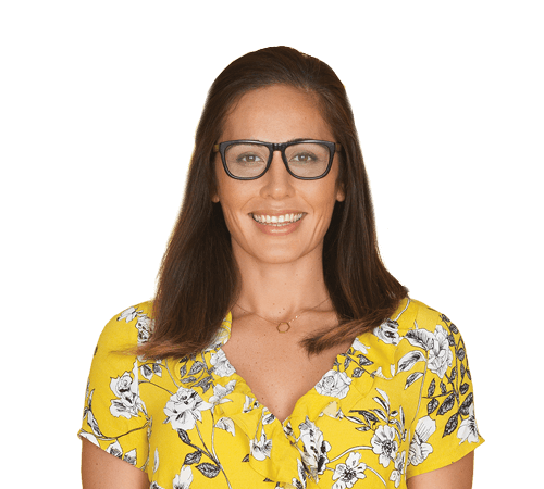 Smiling Woman Booster Glasses
